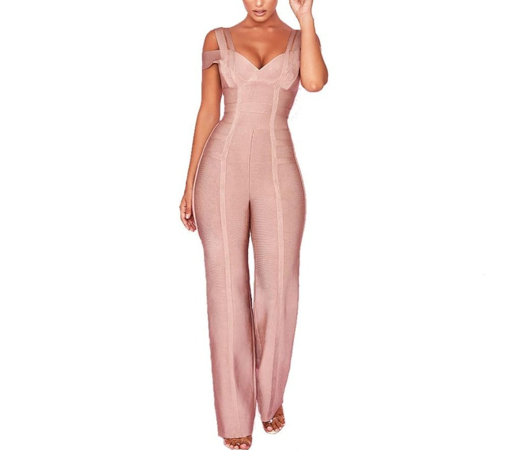 High Quality Backless Bandage Jumpsuit - LEPITON