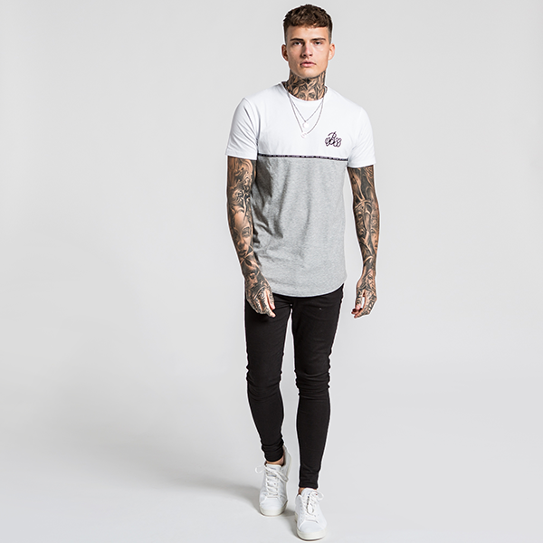 Delsen Tee - White/Grey