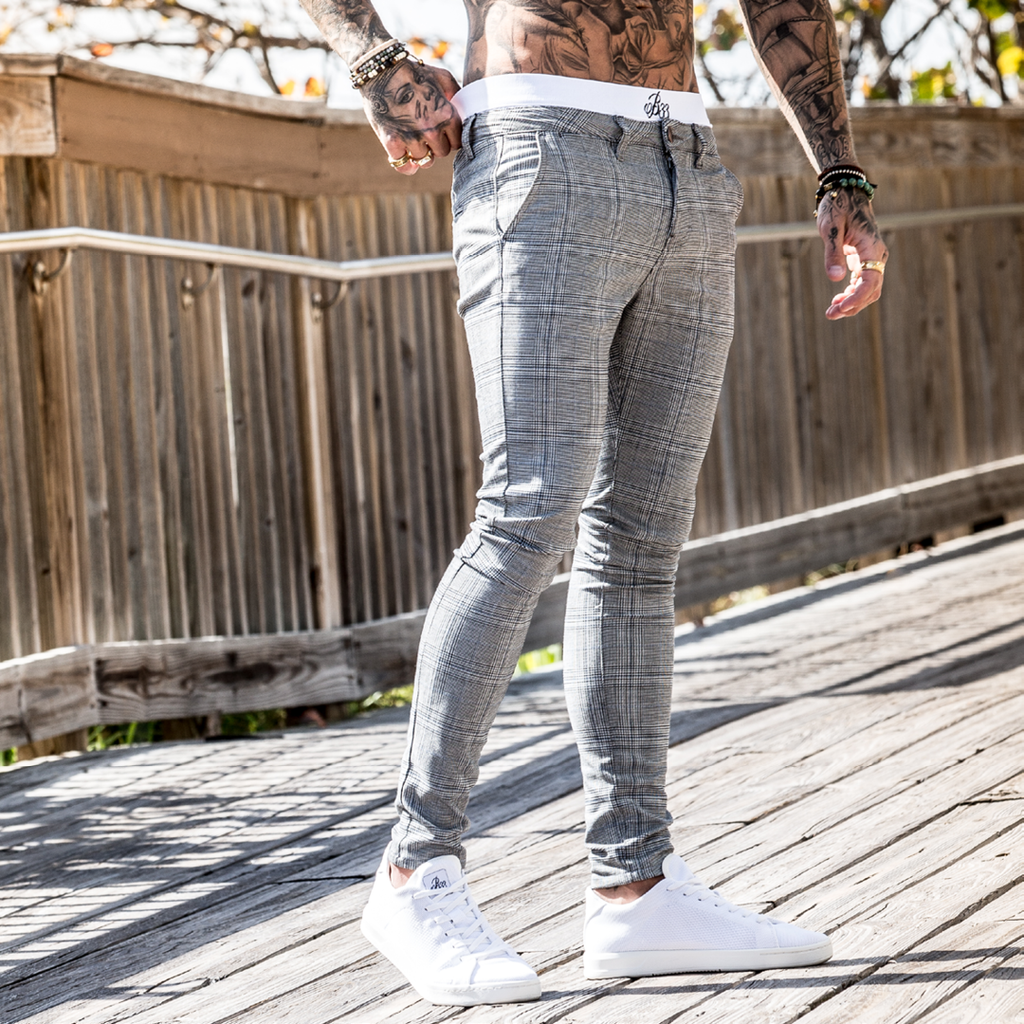 Viera Chino - Grey Check