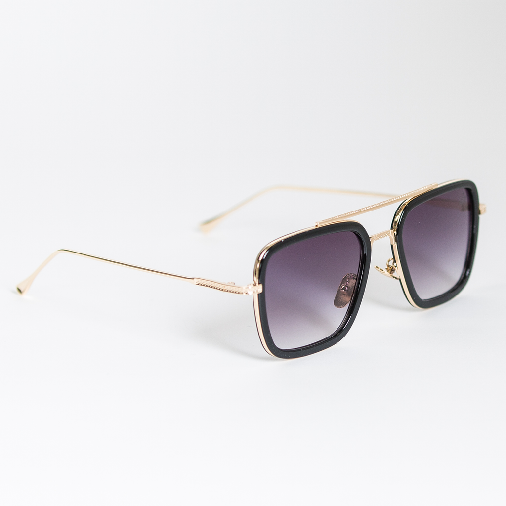 Drake Sunglasses - Black/Gold