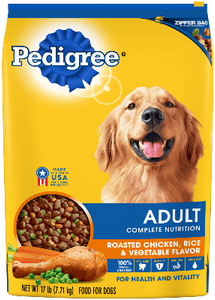 Pedigree Adult Complete Nutrition Roasted Chicken, Rice and Vegetable Flavor Dry Dog Food
