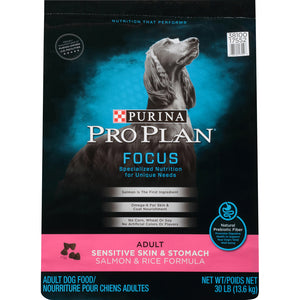 Purina Pro Plan Focus Sensitive Skin & Stomach Formula Salmon & Rice Formula Dry Dog Food