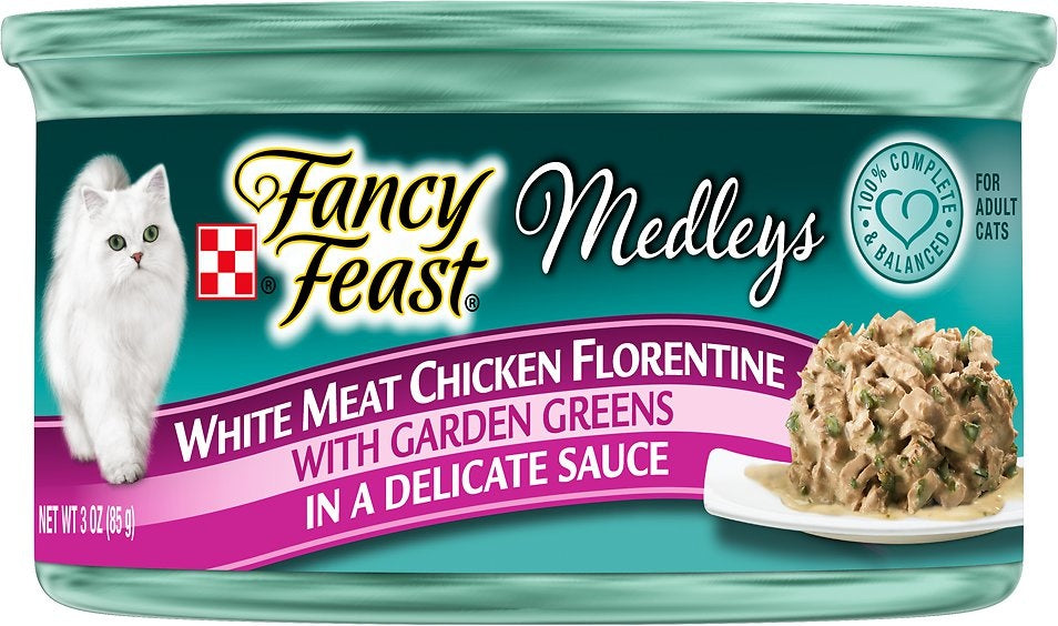 Fancy Feast Elegant Medleys Chicken Florentine Canned Cat Food