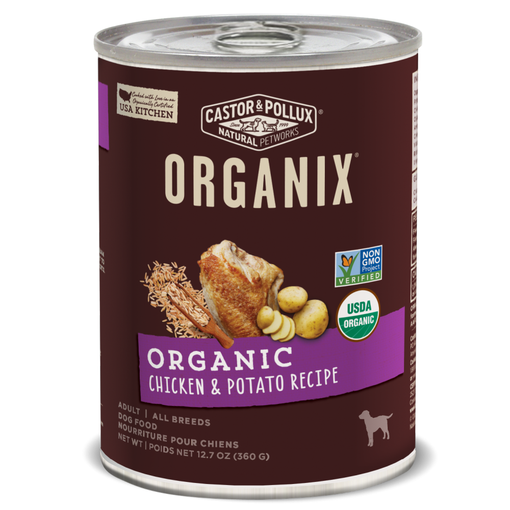 Castor and Pollux Organix Chicken And Potato Formula Canned Dog Food