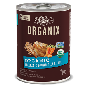 Castor and Pollux Organix Chicken and Brown Rice Formula Canned Dog Food