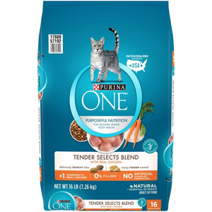 Purina ONE Tender Selects Blend Real Chicken Dry Cat Food