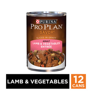Purina Pro Plan Savor Adult Lamb & Vegetable Entree Canned Dog Food