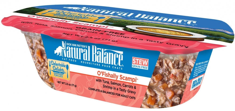Natural Balance Delectable Delights Grain Free O Fishally Scampi Flavor Wet Cat Food