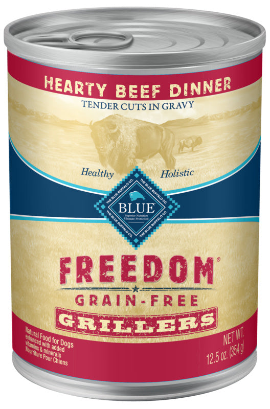 Blue Buffalo Freedom Grain Free Grillers Hearty Beef Dinner Canned Dog Food