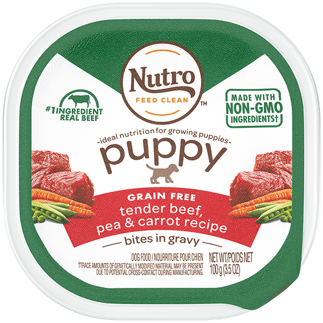 Nutro Bites in Gravy Tender Beef, Pea & Carrot Recipe Wet Dog Food