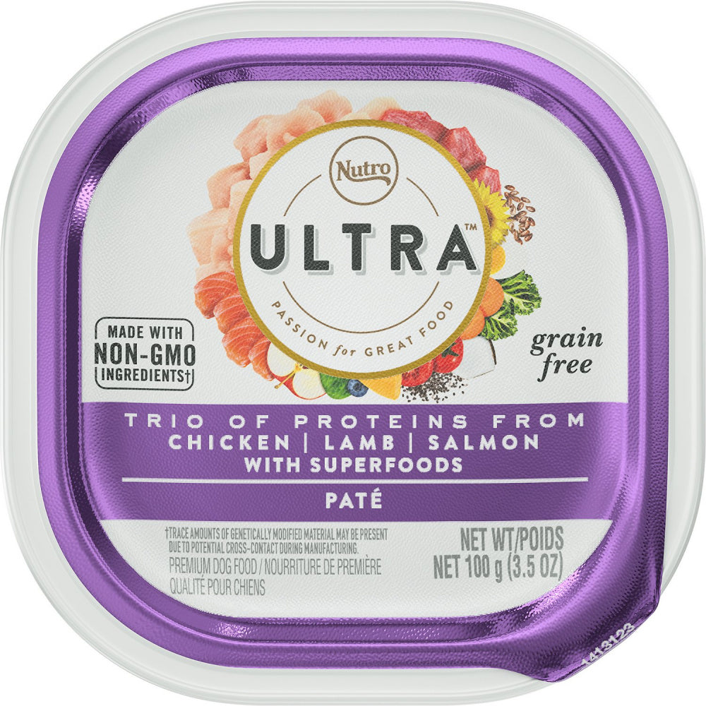 Nutro Ultra Adult Small to Large Dogs Chicken, Lamb and Salmon Pate Wet Dog Food