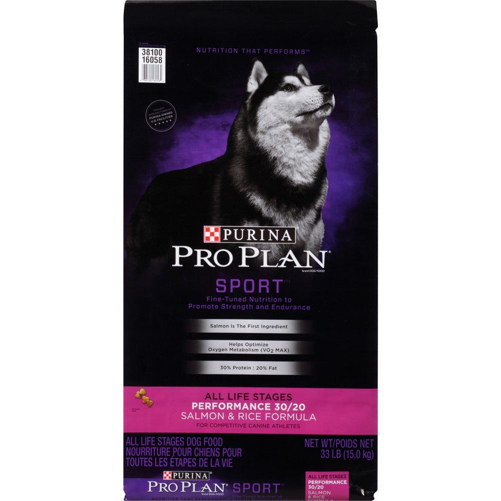 Purina Pro Plan Sport All Life Stages Performance 30/20 Salmon & Rice Formula Dry Dog Food