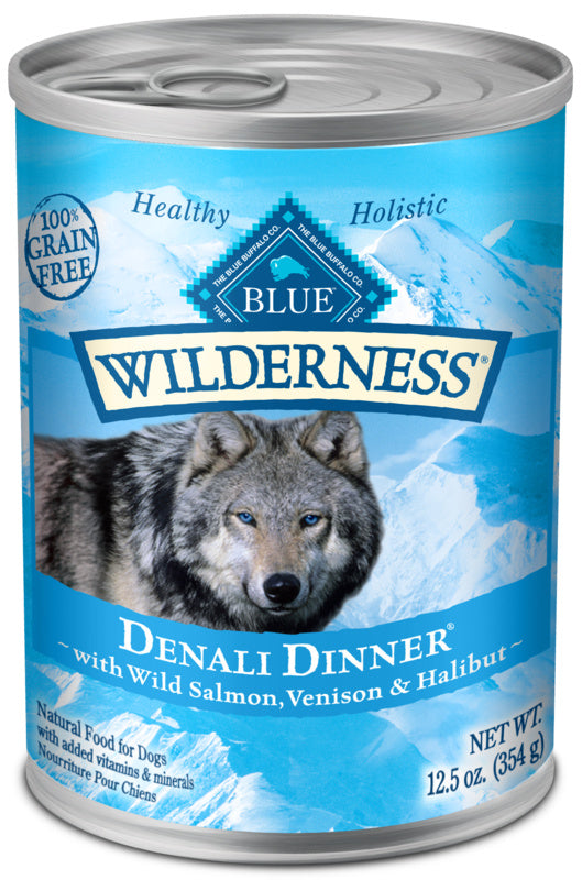Blue Buffalo Wilderness Grain Free Denali Dinner with Salmon, Venison & Halibut Canned Dog Food