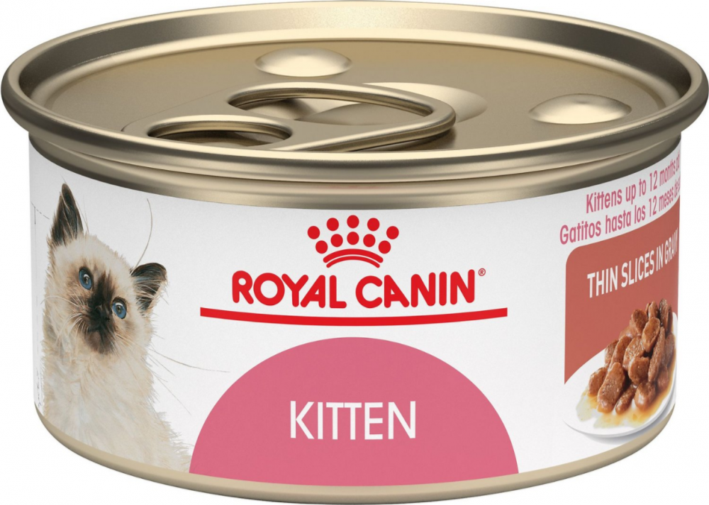 Royal Canin Feline Nutrition Kitten Instinctive Thin Slices in Gravy Canned Cat Food