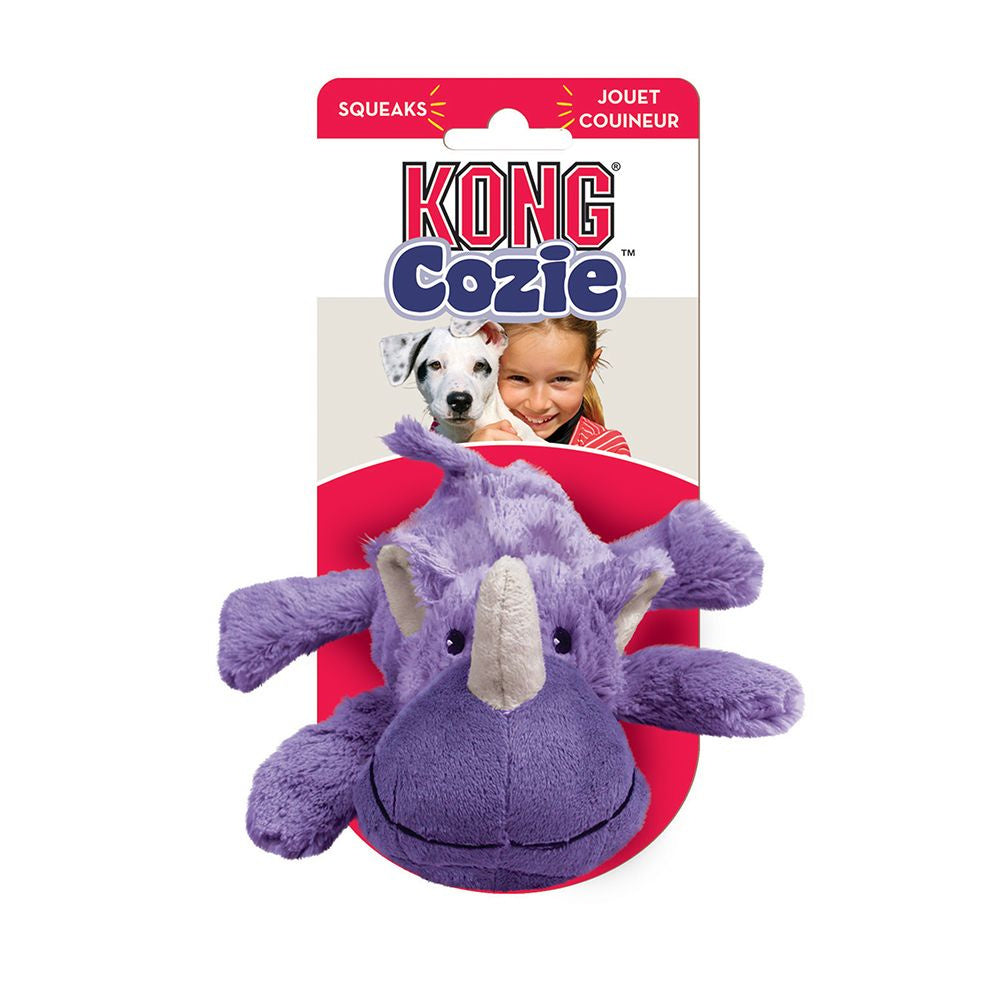 KONG Rosie Rhino Cozie Plush Dog Toy