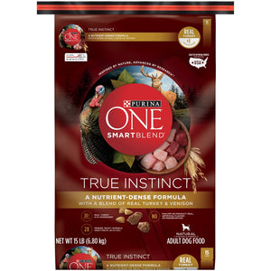 Purina ONE SmartBlend True Instinct Turkey & Venison Dry Dog Food