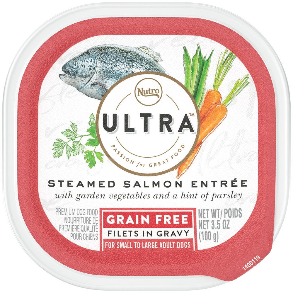 Nutro Ultra Grain Free Steamed Salmon Entree Filets in Gravy Wet Dog Food