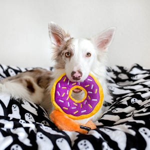 ZippyPaws Grape Jelly Donutz Squeaky No Stuffing Plush Dog Toy