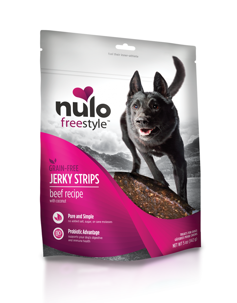 Nulo Freestyle Grain Free Beef & Coconut Recipe Jerky Dog Treats