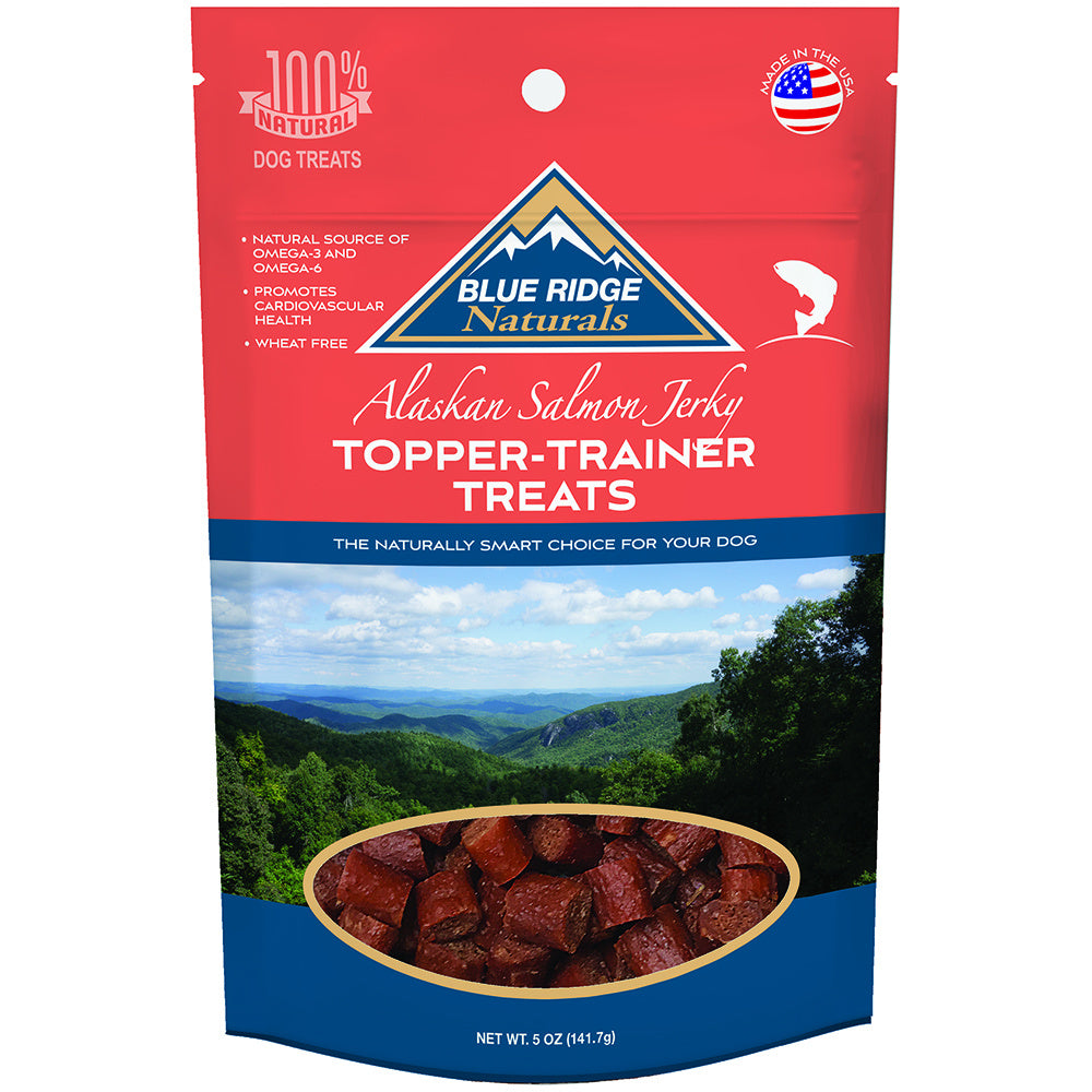 Blue Ridge Naturals Alaskan Salmon Jerky Topper Trainer Dog Treats