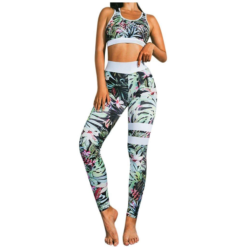 Seamless Yoga Sports Bra and Leggings Set - LuxemApparel