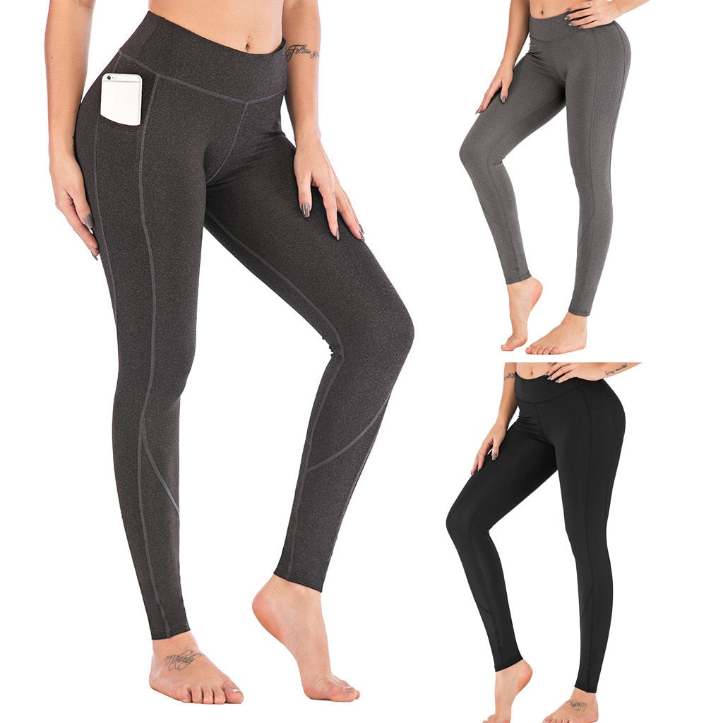 Fashion Scrunch Butt Leggings with pocket - LuxemApparel