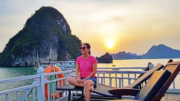 Halong Bay cruise with kids