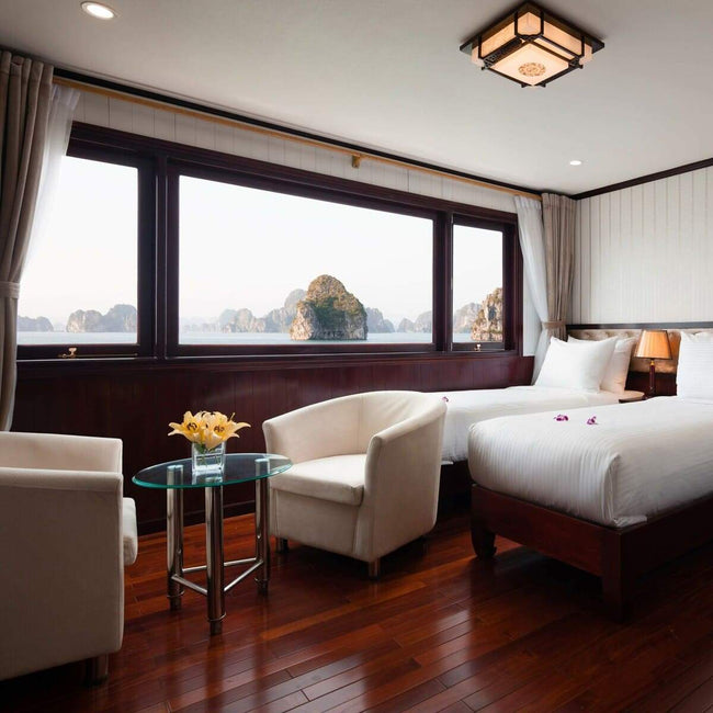 [Lowest Price] Halong Silversea Cruise - Deluxe Cabin - 2D1N - Halongdaytour