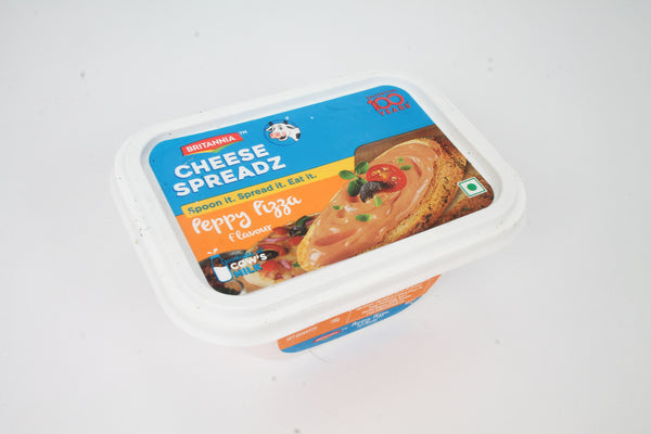 BRITANNIA CHEESE SPREAD PEPPY PIZZA 180GM