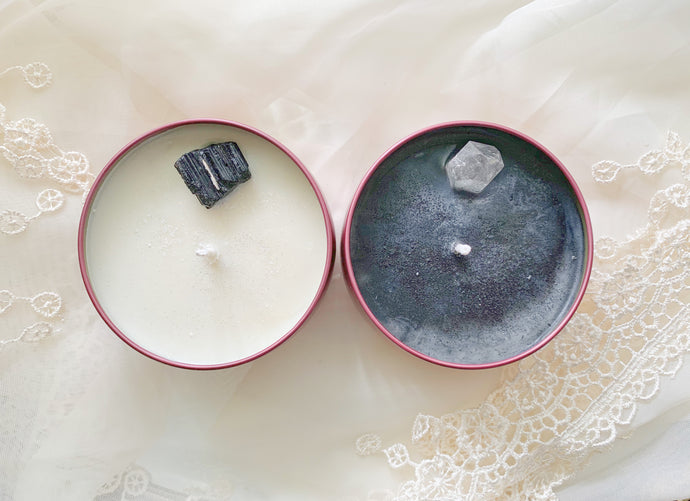 Full Moon & New Moon Crystal Candle Set