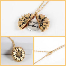 Load image into Gallery viewer, Sunflower Heart Necklace
