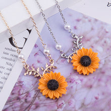 Load image into Gallery viewer, Sunflower Forest Pendant Necklace