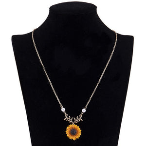 Sunflower Forest Pendant Necklace