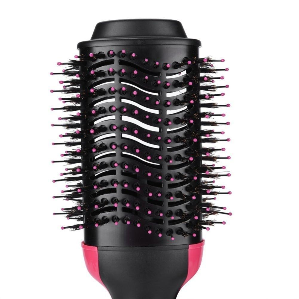 2-in-1 Hair Dryer Styler Straightening Brush