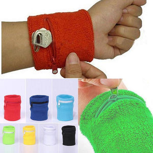 Hidden Zipper Travel Wrist Wallet