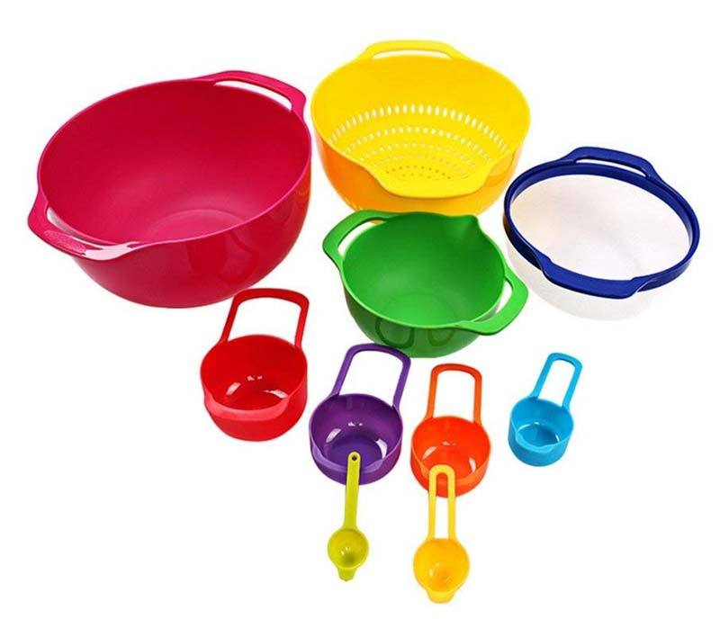 Stackable Mixing Bowl Measuring Spoon Set (8 pcs)