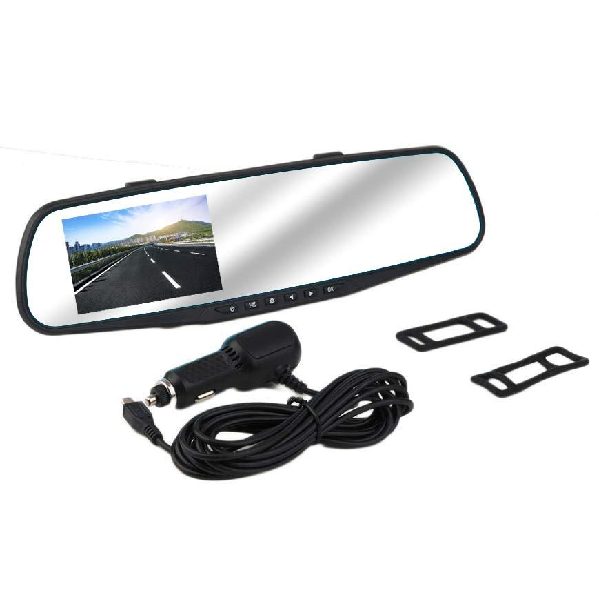 SafeView™ LCD Rearview Mirror Dash Cam