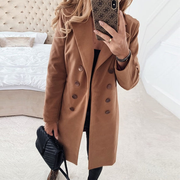 Women Blend Coat 2020 Winter Jacket