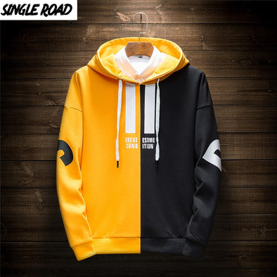 Men 2020 Hip Hop Yellow Hoodie