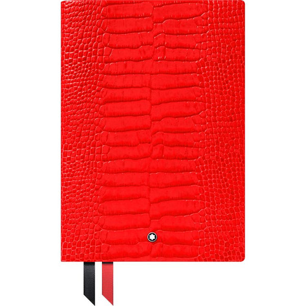 Carnet #146 Montblanc Fine Stationery, impression croco, poppy red