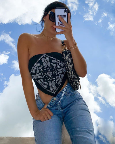Bandana Crop Top