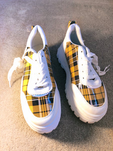 Mustard check Trainers