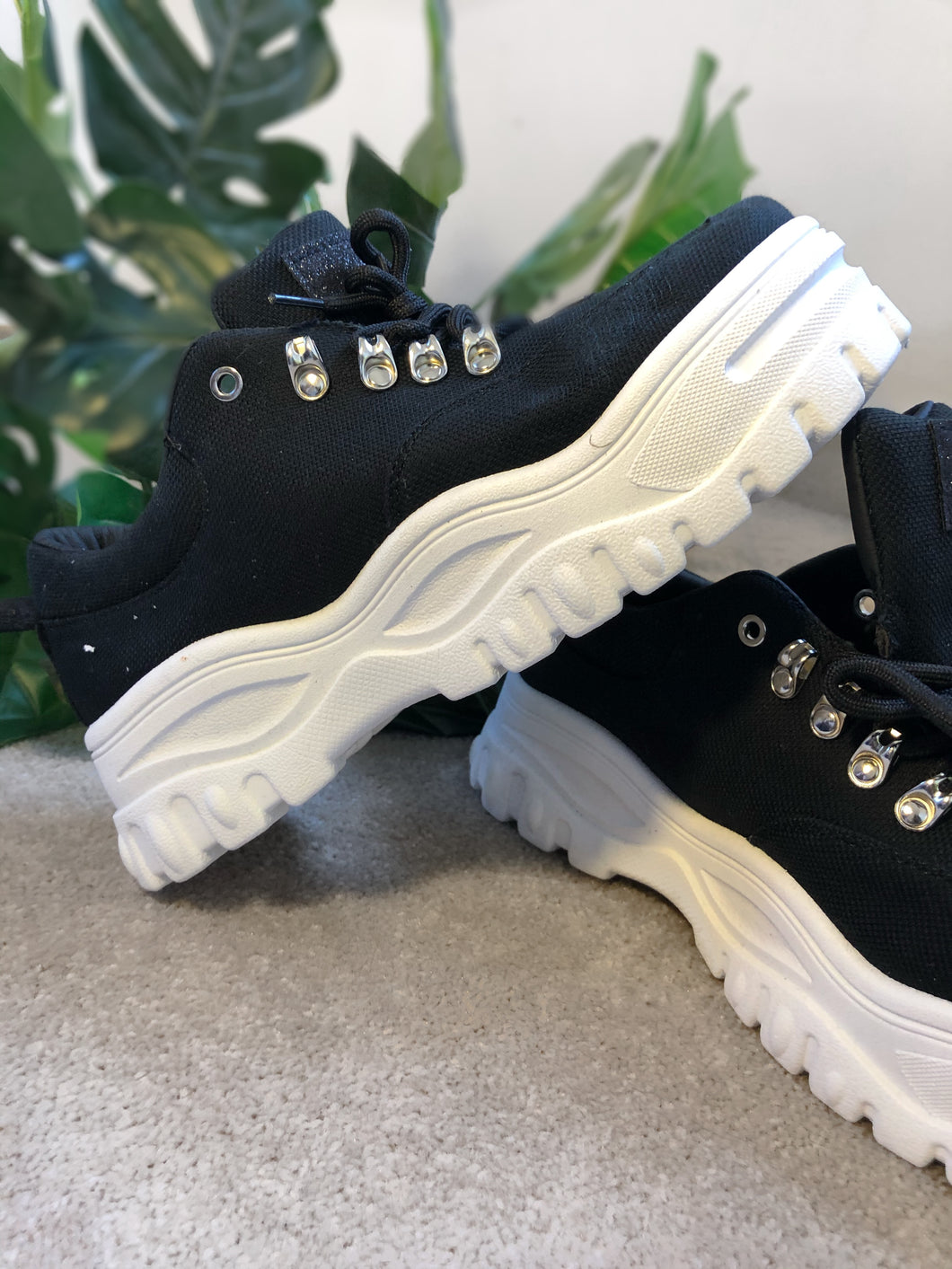 Black and white Chunky Sole trainers