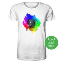 "Laden Sie das Bild in den Galerie-Viewer, Organic T-Shirt weiß ""Adopt don´t shop"""