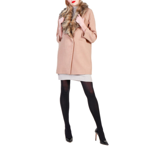 Fontana 2.0 FREDIANA Coat Faux Collar - Moda Designer Boutique