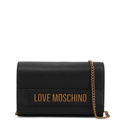 Love Moschino Clutch Bag Chain Strap Logo - JC4103PP1BLK - Moda Designer Boutique