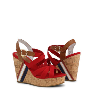 U.S. Polo Assn. Aylin Women's Wedges Ankle Strap Red - AYLIN4092S0_CY1 - Moda Designer Boutique