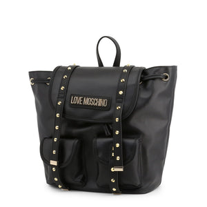 Love Moschino Women's Backpack Studded Black - JC4078PP1ALL - Moda Designer Boutique
