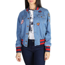 Load image into Gallery viewer, Tommy Hilfiger Women's Bomber Jacket Blue Logo - WW0WW18332 - Moda Designer Boutique