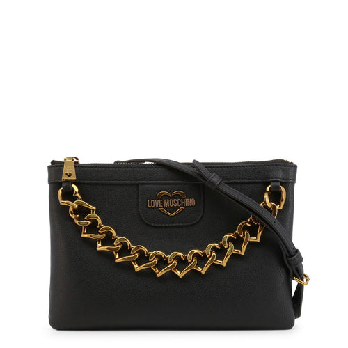 Love Moschino Clutch Bag Logo Chain - JC4098PP1BLO - Moda Designer Boutique